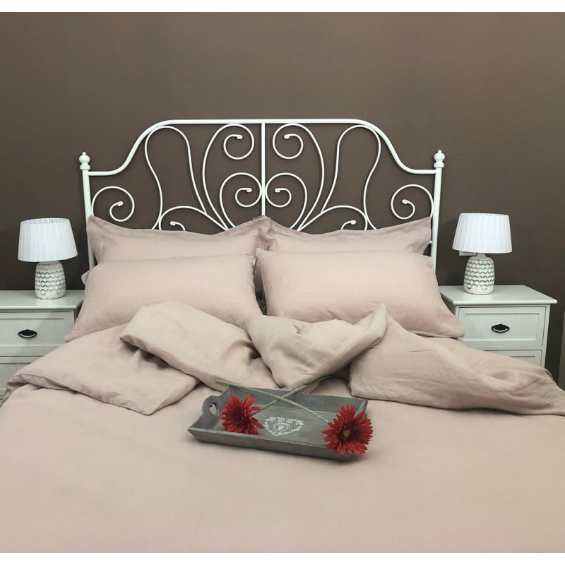 Pink Rose Duvet Cover Linen Atlanta