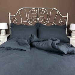 Duvet Cover Linen Atlanta Charcoal