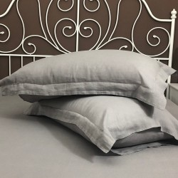 Pillowcase Oxford Linen Atlanta Grey