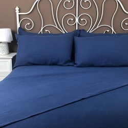 Flat Sheet Linen Atlanta Blue