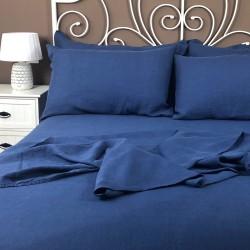 Flat Sheet Linen Atlanta Blue