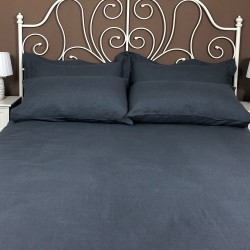 Fitted Sheet Linen Atlanta Charcoal
