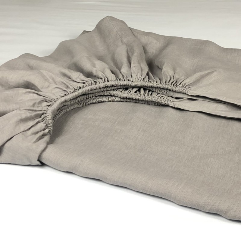 Fitted Sheet Linen Atlanta Grey