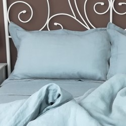Pillowcase Oxford Linen Atlanta Slate with Duvet View