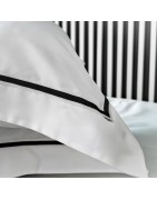 Oxford pillowcases, Egyptian cotton and linen.