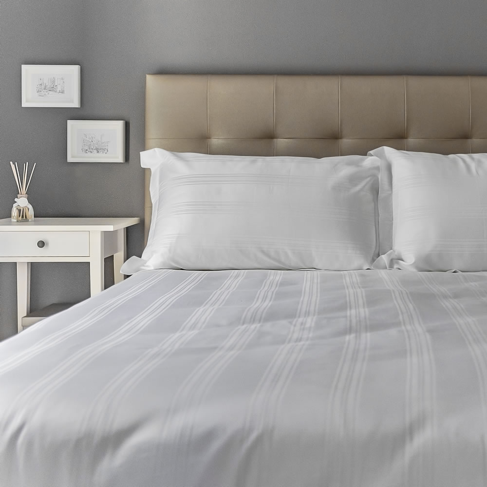 bedding with Heathcote cotton duvet cover