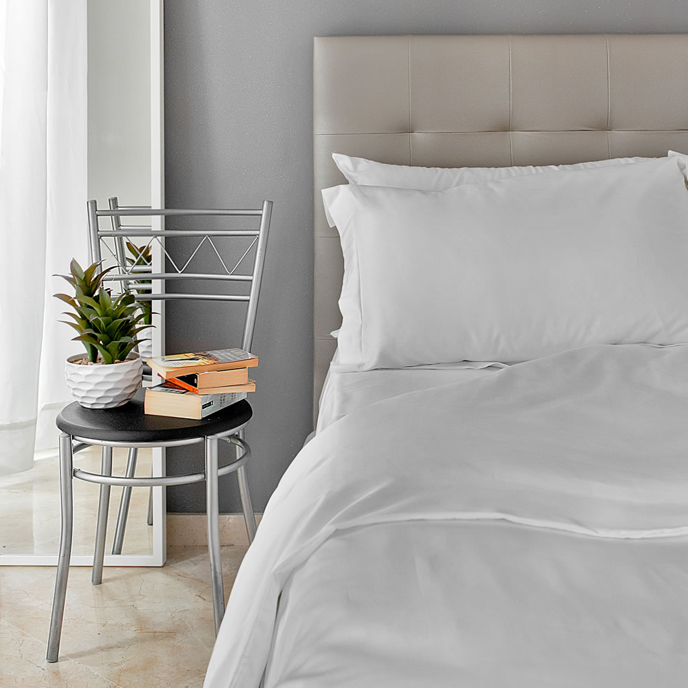 High end Egyptian white cotton duvet covers