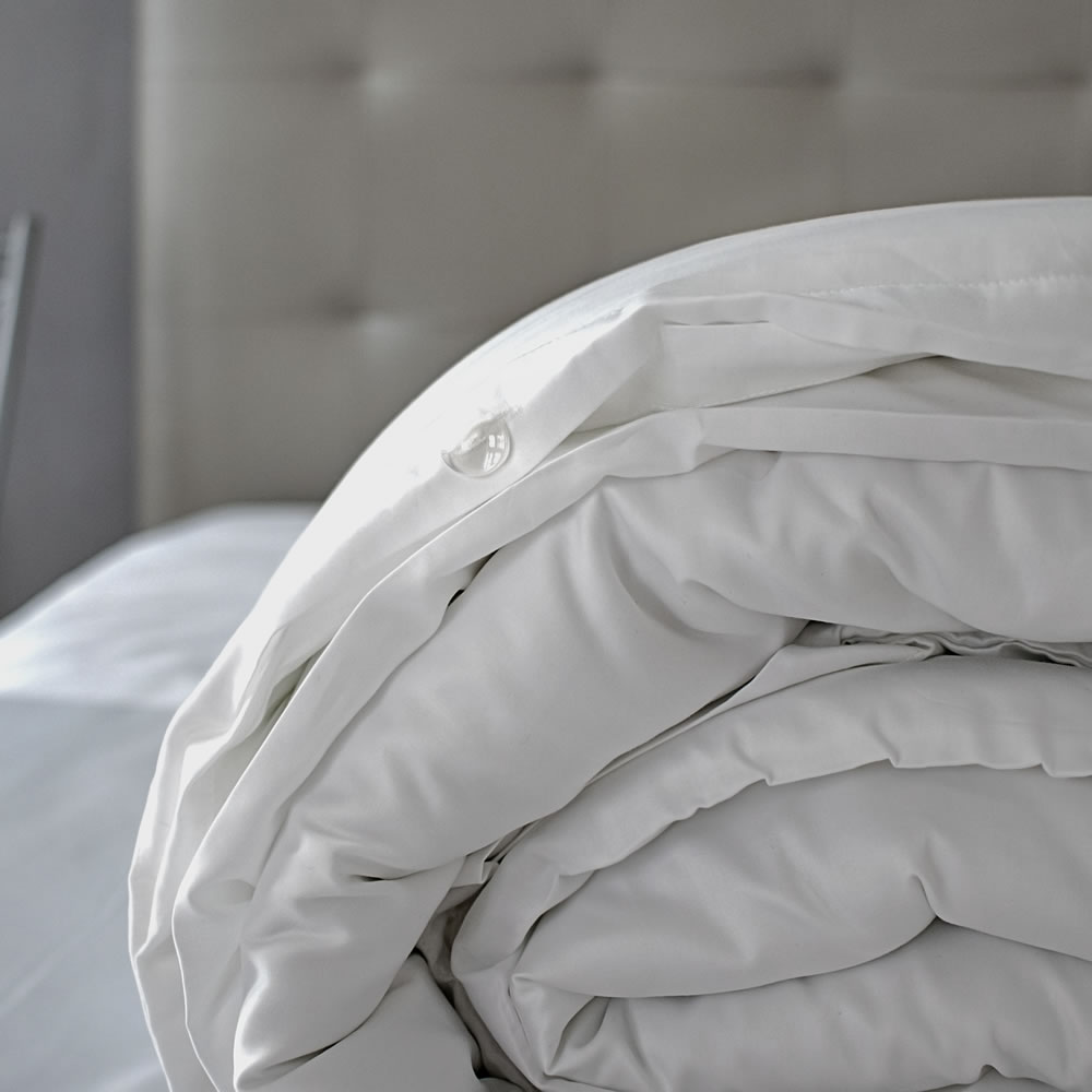 Lisbon pure white Egyptian cotton duvet cover