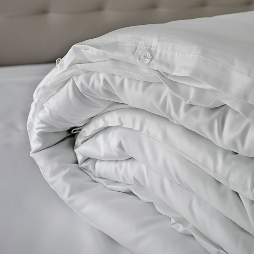 Lisbon luxury pure white cotton bedding