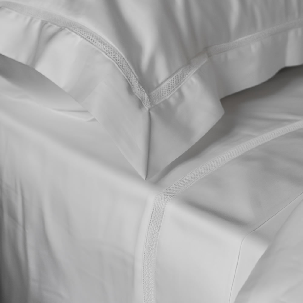 Oxford pillowcase Egyptian cotton embroidered edge Victoria collection
