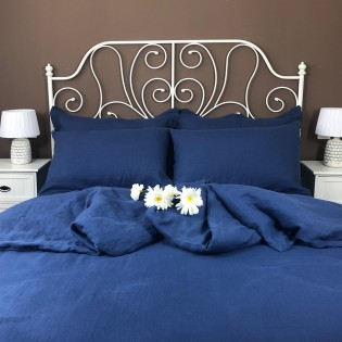 Navy Blue Flat Sheets