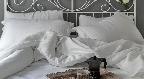 Luxury range of best quality, pure white, sheets, pillowcases and duvet covers